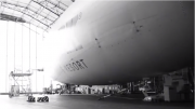 Zeppelin Airship Optically Scanned For Hailstorm Damage