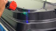 Carbon Fiber Parts Inspected With Wide Line Portable Laser Scanner