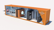 Flexible Mobile Industrial CT System Integrated Within Shipping Container